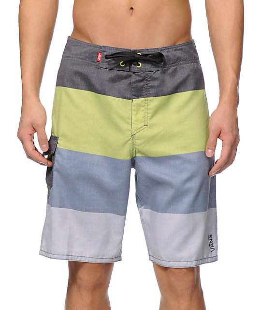 Vans Off The Wall Frog Yellow Stripe 21 Board Shorts