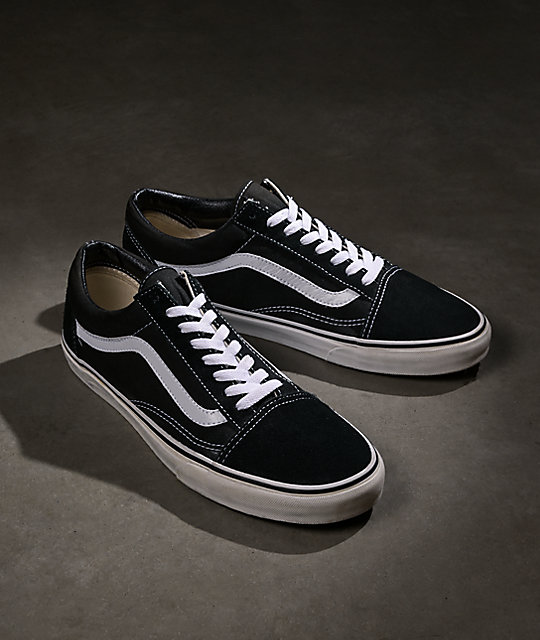 Vans Old Skool Black & White Skate Shoes at Zumiez : PDP