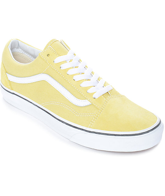 Vans Old Skool Dusty City Yellow Amp White Skate Shoes Zumiez
