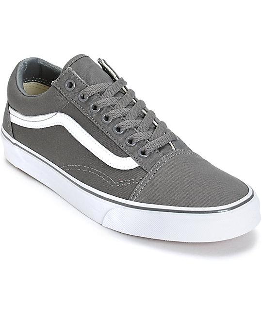 Vans Old Skool Grey Skate Shoes (Mens)