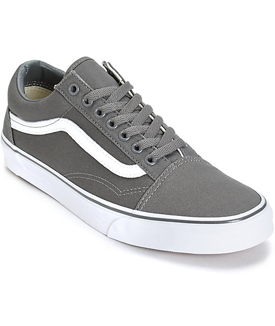 Vans Old Skool Grey Skate Shoes