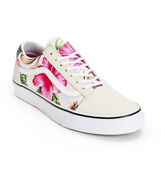 Vans Old Skool Hawaiian Floral Shoes (Womens)