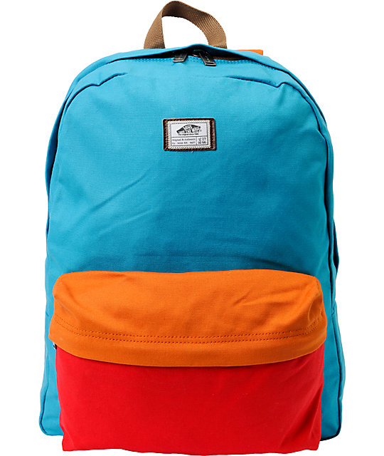 Vans Old Skool II Bright Blue Canvas Backpack