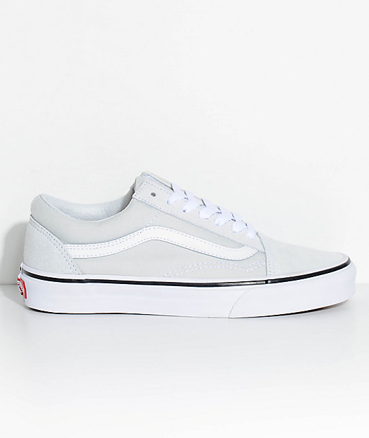Vans Old Skool Ice Flow Amp True White Skate Shoes Zumiez