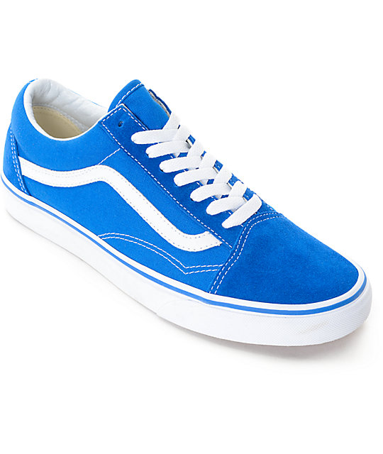 Vans Old Skool Imperial Blue & White Skate Shoes