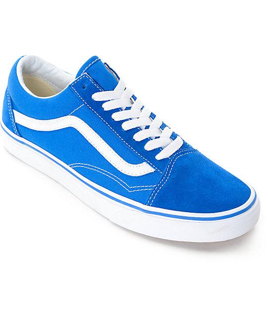 vans skool imperial blue white skate shoes