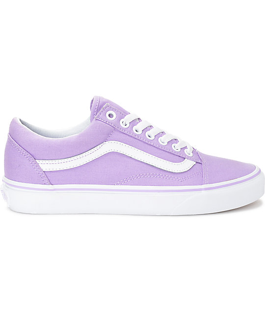vans skool lavender white canvas shoes zumiez