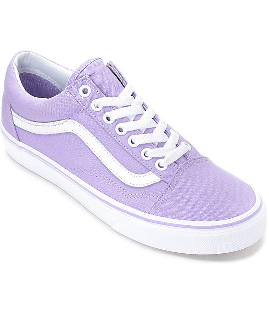 Vans Old Skool Lavender & White Canvas Shoes at Zumiez : PDP