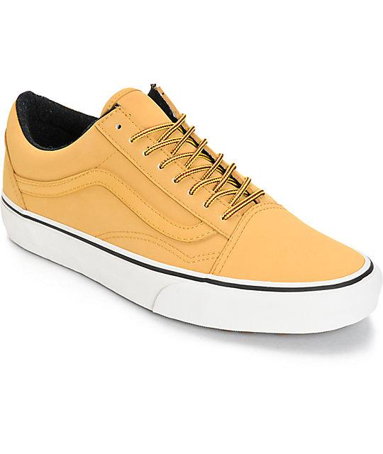 vans old skool brown skate shoes (mens)