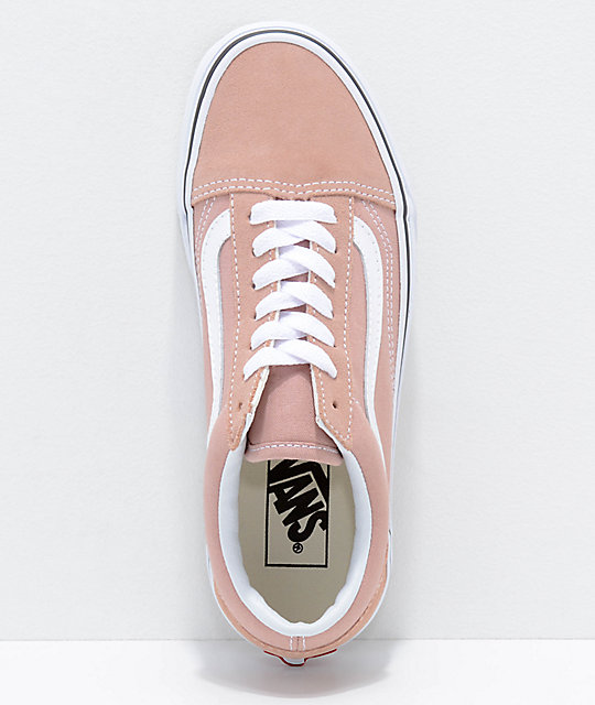 Vans Old Skool Mahogany Rose & True White Skate Shoes