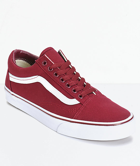 Vans Old Skool Maroon Skate Shoes