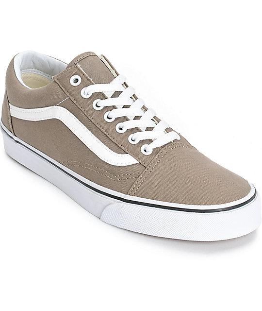 vans old skool beige shoes