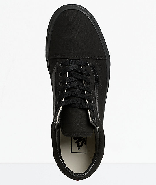 Vans Old Skool Mono Black Skate Shoes