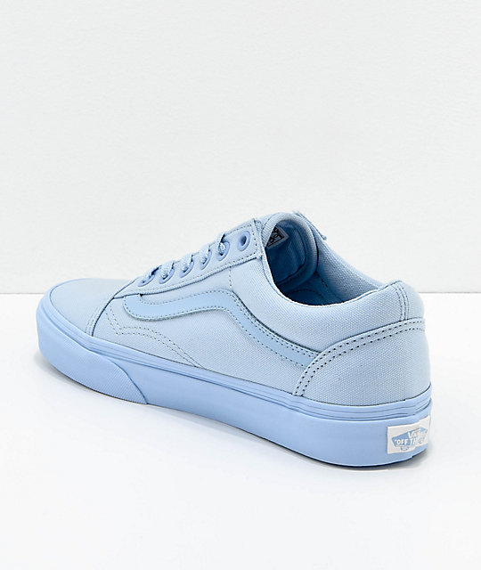 Vans Old Skool Mono Sky Blue Skate Shoes
