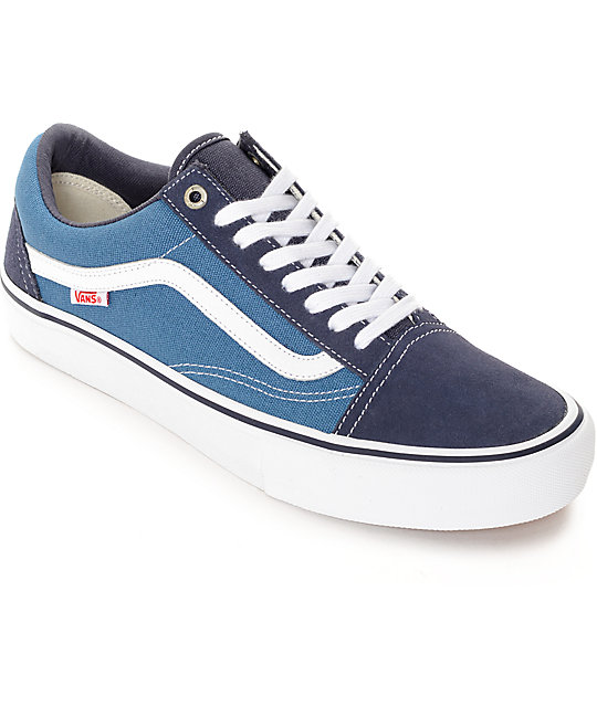Vans Old Skool Navy & White Skate Shoes (Mens)