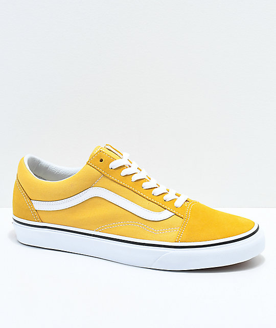 Vans Old Skool Ochre & White Skate Shoes by Vans