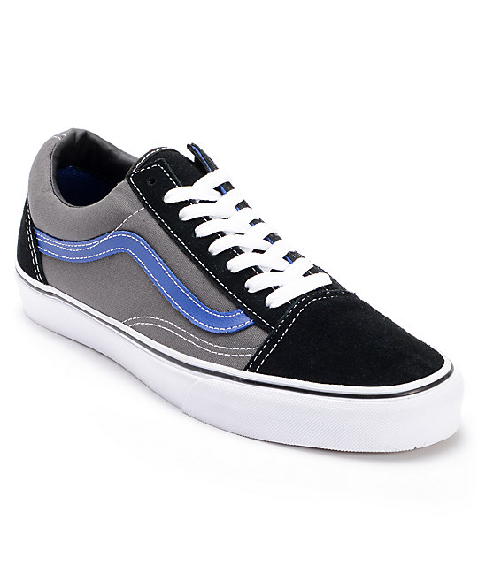 Vans Old Skool Pewter & Black Skate Shoes (Mens)