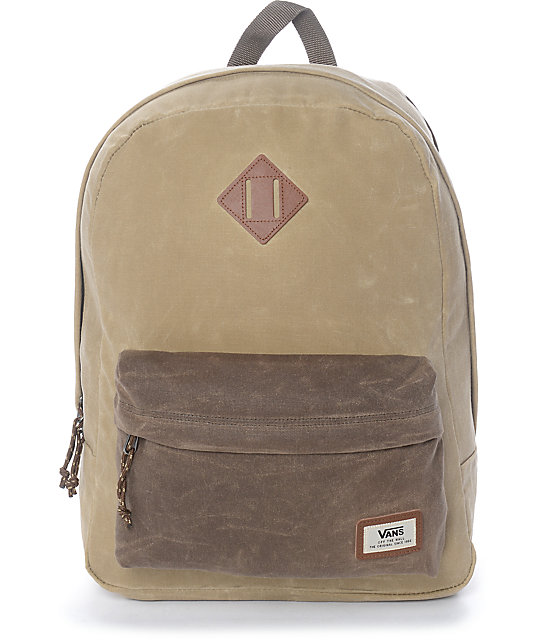 vans old skool plus khaki rain drum backpack at zumiez pdp. Black Bedroom Furniture Sets. Home Design Ideas