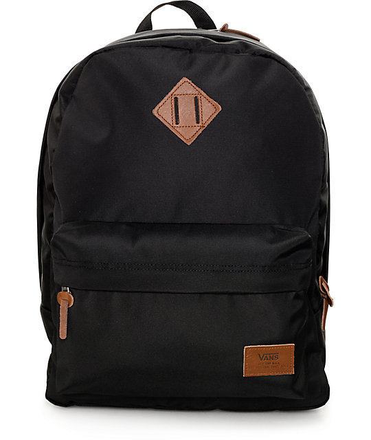 Vans Old Skool Plus True Black Backpack | Zumiez