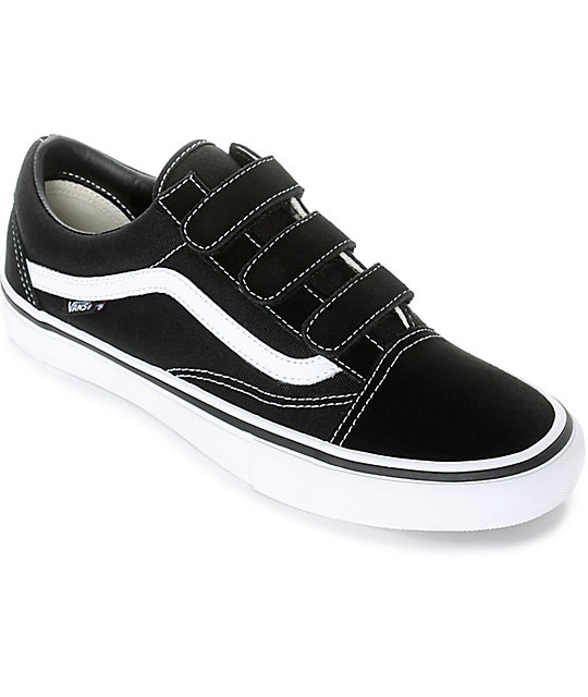Vans Old Skool Prison Pro Black & White Skate Shoes