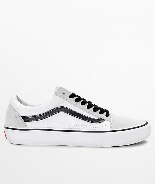 Vans Old Skool Pro 50th Anniversary White & Black Skate Shoes
