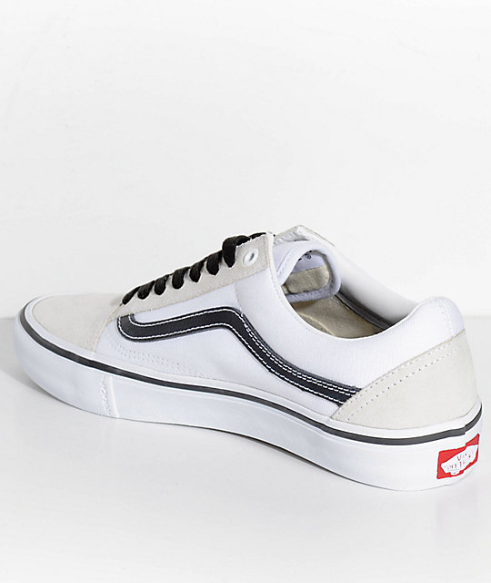 Vans Old Skool Pro Shoes Black Black White