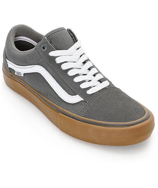 vans old skool grey suede purse