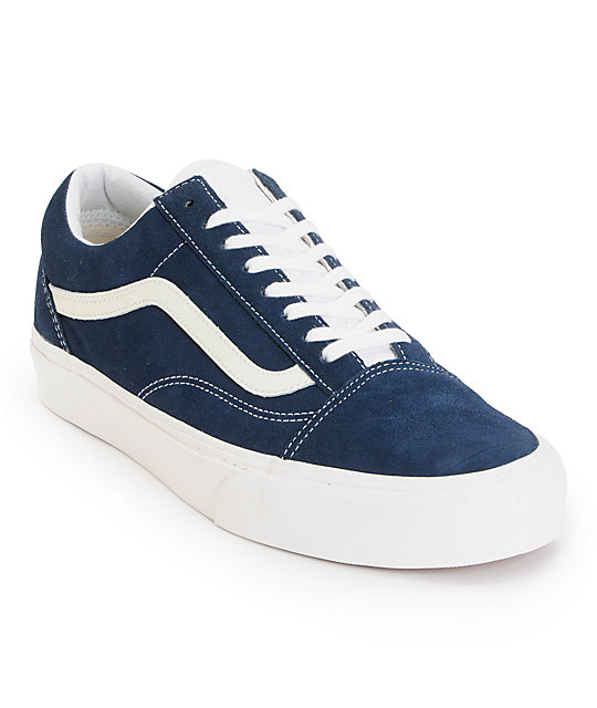 Vans Old Skool Vintage Dress Blue Skate Shoes (Mens)