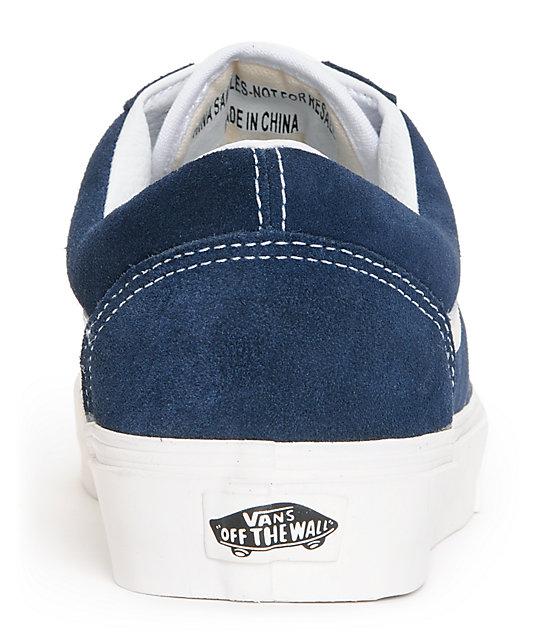 Vans Old Skool Vintage Dress Blue Skate Shoes