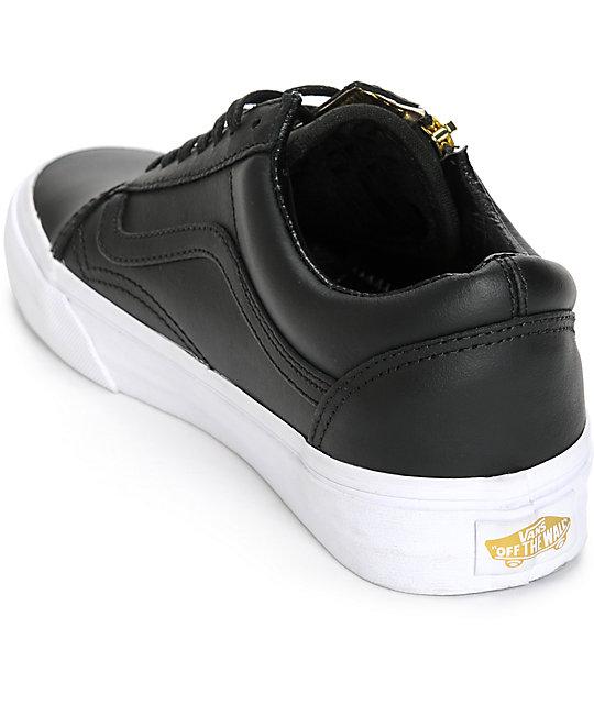 Vans Old Skool Zip Black Leather Shoes