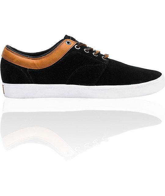 Vans Pacquard Black, Brown, & White Skate Shoes