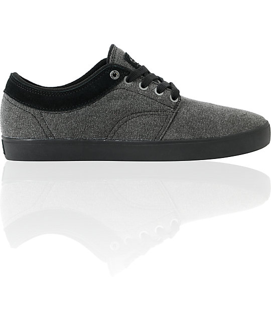 Vans Pacquard Black Wash & Black Skate Shoes (Mens)