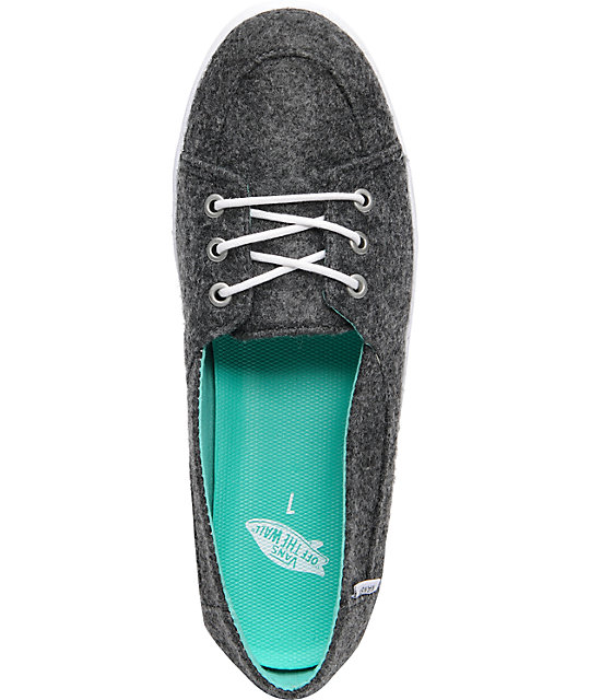 Vans Palisades Vulcanized Charcoal Wool Shoes