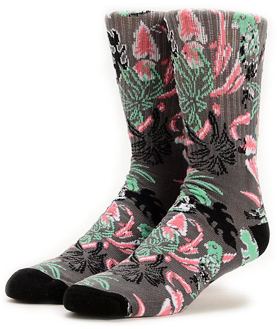 Vans Parrot Graphite & Black Crew Socks