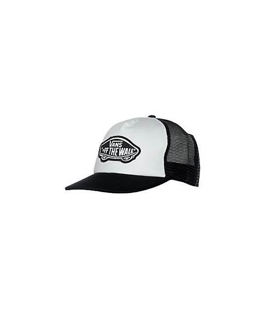 Vans Patch White & Black Trucker Snapback Hat