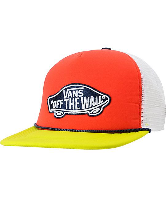 Vans Patchwork Bittersweet Neon Snapback Trucker Hat