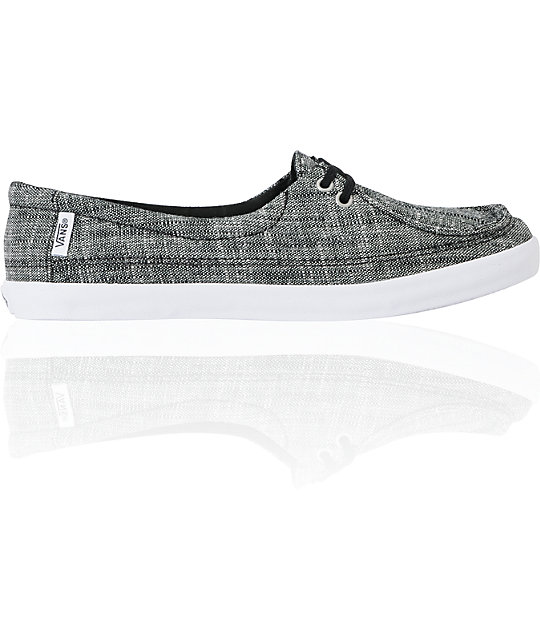Vans Rata Lo Black Linen Shoes