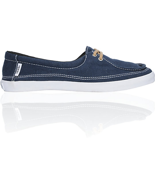 Vans Rata Lo Navy & Tan Hemp Shoes (Womens)