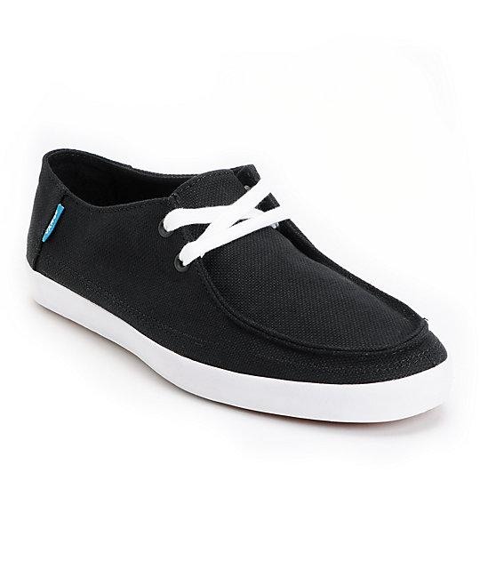 Vans Rata Vulc Black & White Hemp Skate Shoes