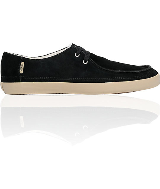 Vans Rata Vulc Black Fleece Lined Skate Shoes