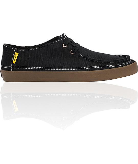 Vans Rata Vulc Black Hemp Skate Shoes