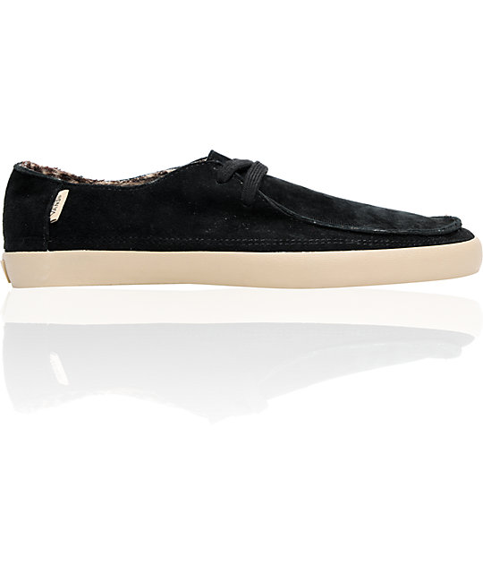 Vans Rata Vulc Black Shag & Flannel Skate Shoes