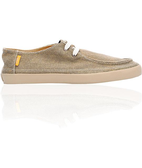 Vans Rata Vulc Brown & Orange Skate Shoes