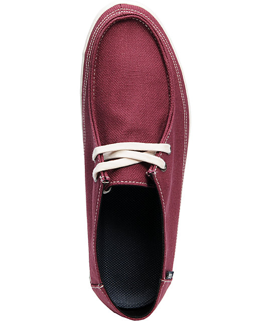 Vans Rata Vulc Burgundy Hemp Skate Shoes