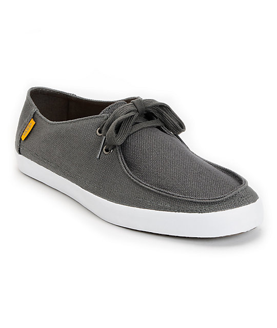 Vans Rata Vulc Charcoal Hemp Skate Shoes (Mens)