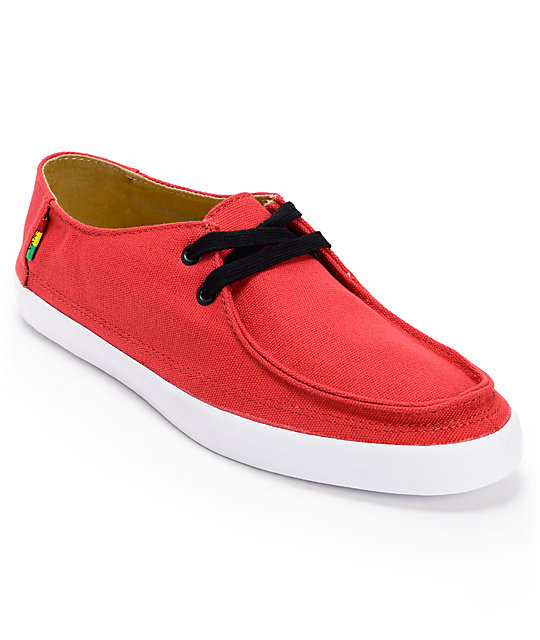 Vans Rata Vulc Rasta Chili Pepper Red  Skate Shoes (Mens)