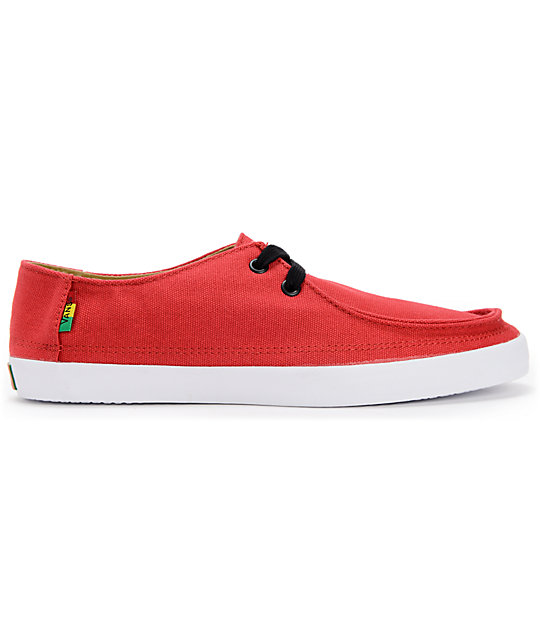 Vans Rata Vulc Rasta Chili Pepper Red  Skate Shoes