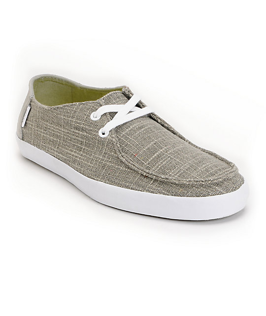 Vans Rata Vulc Woven Grey Skate Shoes (Mens)