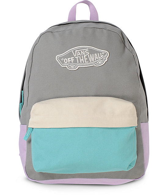 Vans Realm Frost Grey Colorblocked Backpack