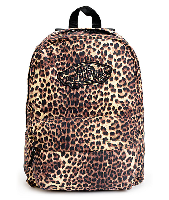 Vans Realm Leopard Print Backpack at Zumiez : PDP